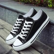 Zapatos informales de mujer 2020, zapatillas de lona transpirables a la moda, zapatos de mujer con cordones planos y lisos, zapatillas de mujer de talla grande