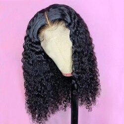 Vague d'eau 6x1 HD T partie dentelle Bob perruques aircabine sans colle 16 pouces brésilien Remy cheveux humains 150% densité perruques pour les femmes noires