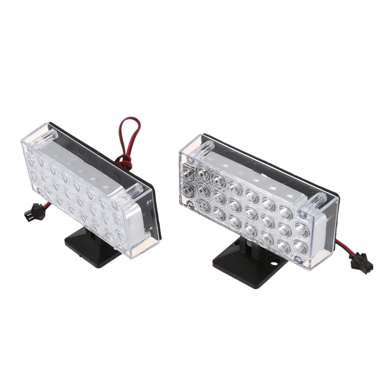 2 X 22 LED Car Flashing Emergency Light Grill Strobe Flash Lamp 12V Red / Blue