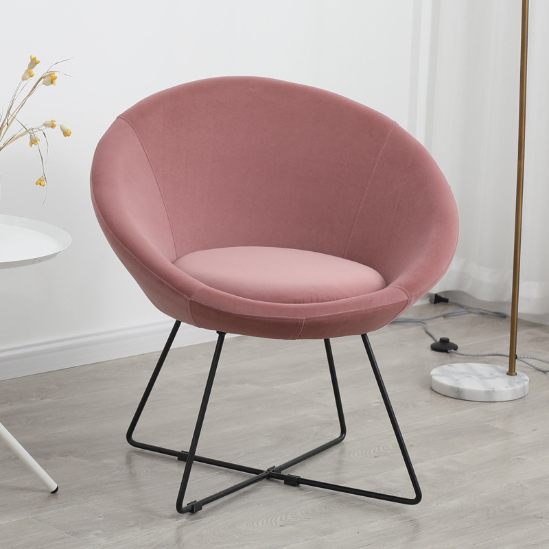 2019 New Nordic Iron Fabric Sofa Simple Living Room Bedroom Balcony Small Sofa Chair Single Apartment Couch Recliner Furniture