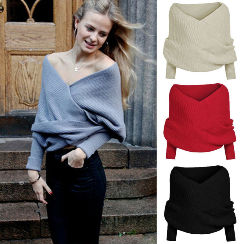 Autumn Women Long Sleeve Loose Knitted Wrap Knitwear Scarf Arrival Sweaters Tops For Women Pullover Jumper Pull Femme Truien
