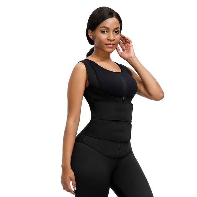 S-5X5 Waist Support Sauna Vest Body Shapper Bone Slimming Waist Trainer Shaper Adjustable Sweat Belt Corset Workout Shapewear