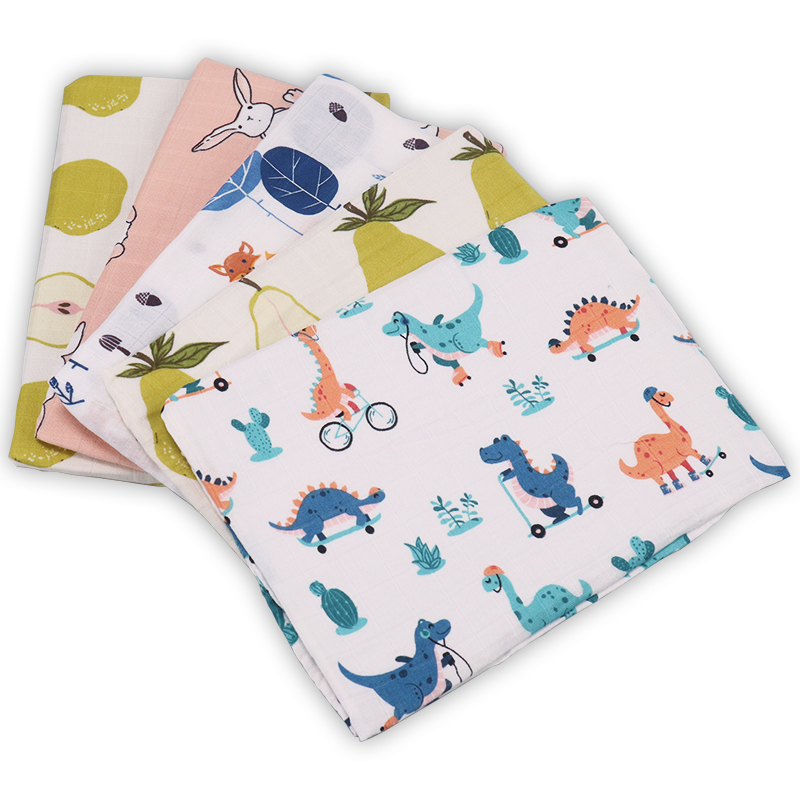 Bamboo Cotton Baby Blankets Newborn Soft Baby Blanket Muslin Swaddle Wrap Feeding Burp Cloth Towel Scarf Baby Stuff 60*60cm