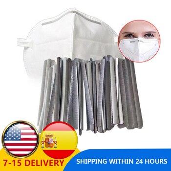 100pcs/pack DIY Aluminum Adjustable Elastic Nose Bridge Clips For Masks High-quality Mask Bands For Disposable Masks