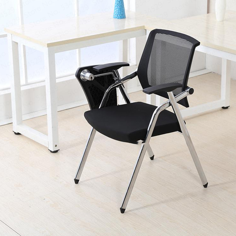 30%1f04 Training Office Chair With Writing Board Conference Chair Folding Dining Chair Mobile Conference Chair