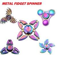 Spinner manual arcoíris Fidget Electroplate híbrido de aleación de Zinc Metal Fidget rodamientos Edc dedo aliviar el estrés de regalo