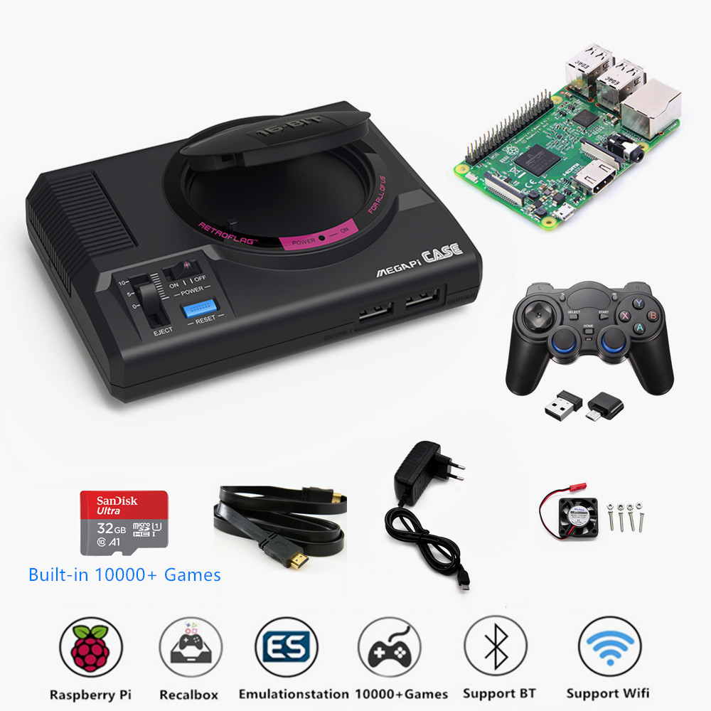 Retroflag MEGAPi Case Video Game Console Support HDMI TV Out Raspberry Pi TV Retro Game Player With 10000+ Games For GBA/CP etc