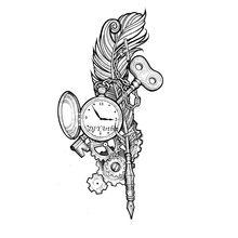 Стимпанк перо часы металлический Трафаретный вырубной штамп DIY тиснение металлический трафарет декоративные штампы резак рамка для скрапб...
