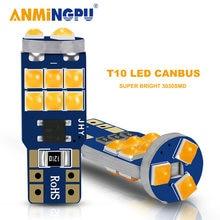 Anmingpu 2x сигнальная лампа led t10 w5w лампочки canbus обновления