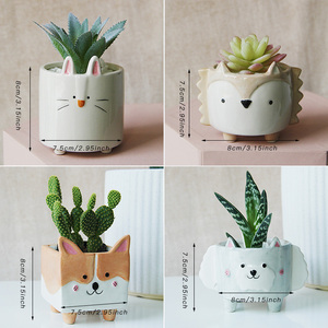 Image 2 - Ceramic flower pot Cartoon Animal plant macetas balcony decorations vaso suculenta planter vertical garden pots cute flowerpot