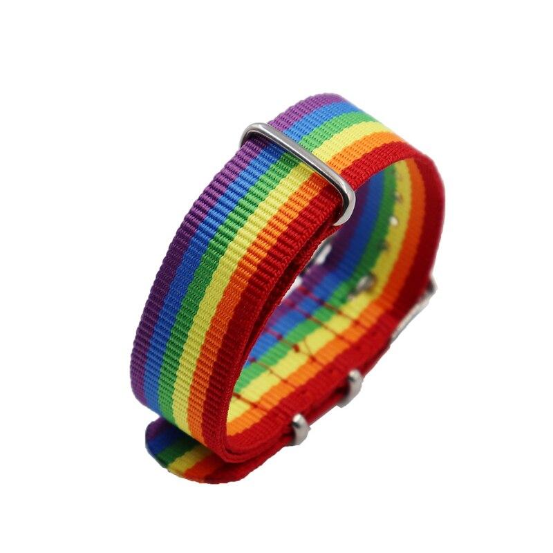 Minimalist Nepal Rainbow Lesbian LGBT Bracelet Pride Woven Braided Men Women Couple Friendship Jewelry