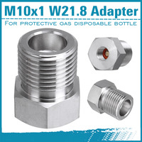 NEW CO2 Adapter with Screwdriver For Pressure Reducer From Reusable To Disposable Bottle M10x1 Inert Gas
