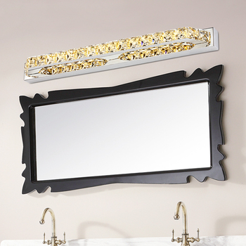 MS MISSYOU Champagne Crystal + Stainless Steel 10W-26W Mirror Light Bathroom Bright LED Wall Lamp For Bedroom Living Room Decor