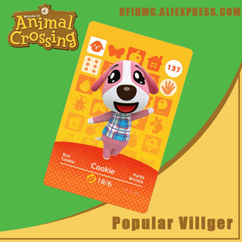 137 Cookie Animal Crossing Card Amiibo For New Horizons
