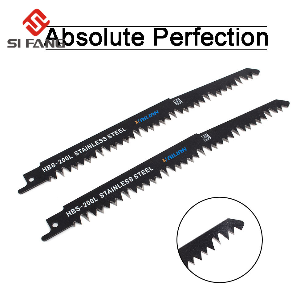 2Pcs HCS Reciprocating Saw Blades Sabre Saw Blade For Wood PVC Jig Saw Blades
