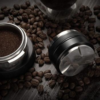 51mm Stainless Steel Coffee Tamper Base Clear Body Barista Espresso Coffee Press Coffee Powder Hammer недорого