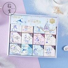 24 pçs/caixa serviço de entrega de luar gilding washi fita decorativa galaxy fruit adesivo diy scrapbooking etiqueta