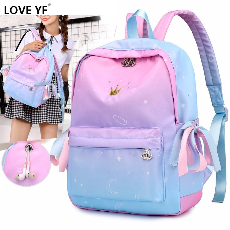 Orthopedic Backpacks Fashion Print School Bags For Teenage Girls Children Primary School Bags Girls 2019 Mochilas Escolar