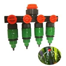 Garden Sprinkler Irrigation  4-way Tap Hose Splitter Garden Hose Fitting Joiner Drip 8/12 or 4/7 Pipe Connector Irrigation