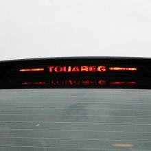 Cubierta decorativa para luces de freno de coche Touareg, pegatinas de lámpara de parada de fibra de carbono modificada, accesorios para coche, 2011-2017