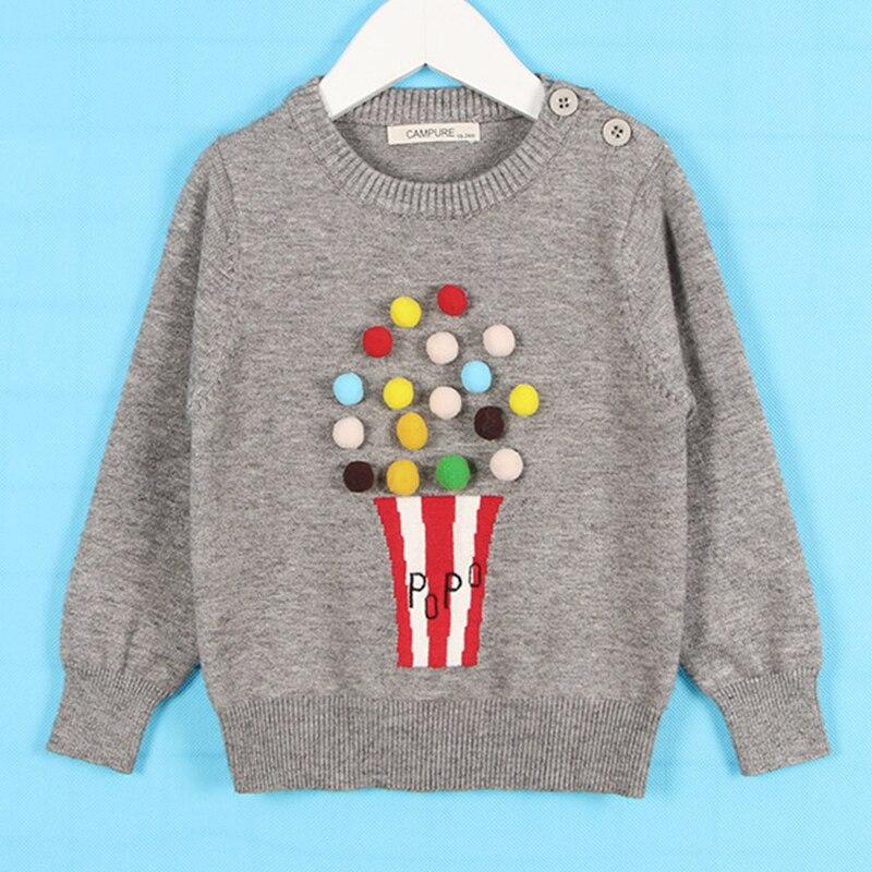 1-6Yrs New 2020 Boy Girl Long Sleeve Loving Heart Knitted Sweater Autumn Winter Boys Girls Sweaters For Baby Girls Kids Sweater 8
