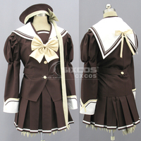 New Arrival Game SHUFFLE Cosplay Costume Girl's Winter Brown Uniform Skirt Suit Female Role Play Clothing Custom Make Any Size