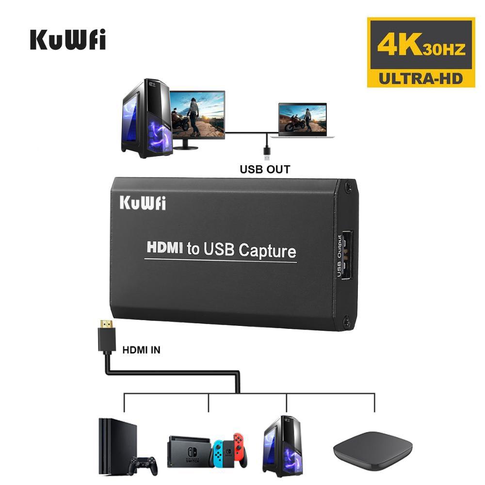 2 Тип 1080P USB 2,0 Карта видеозахвата ключ захвата для игры поток мобильного прямой трансляции HD-MI видео Регистраторы ПК PS4 Xbox