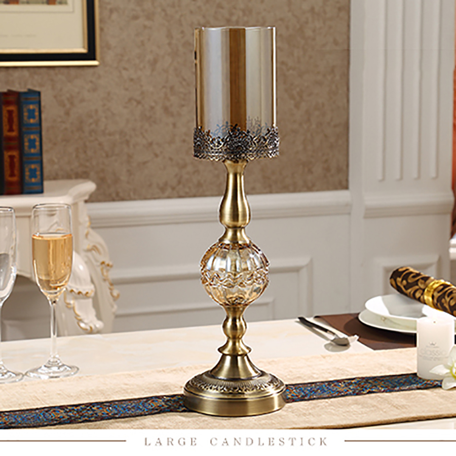 Luxe Amerikaanse Kandelaar Metalen Romantische Verjaardag Kaarsen Wieden Kaars Kerst Houders Decoraties Thuis Room Decor 50X028 - 5