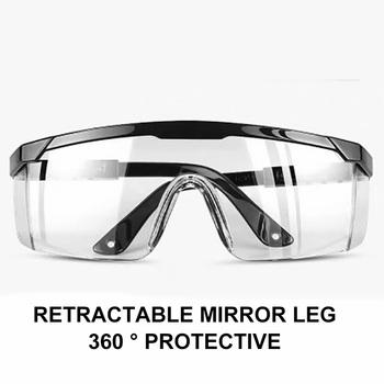 Nowe okulary ochronne przezroczyste okulary odporne na kurz okulary robocze okulary laboratoryjne Splash ochronne okulary przeciwwiatrowe gogle tanie i dobre opinie safe goggles Black Unisex