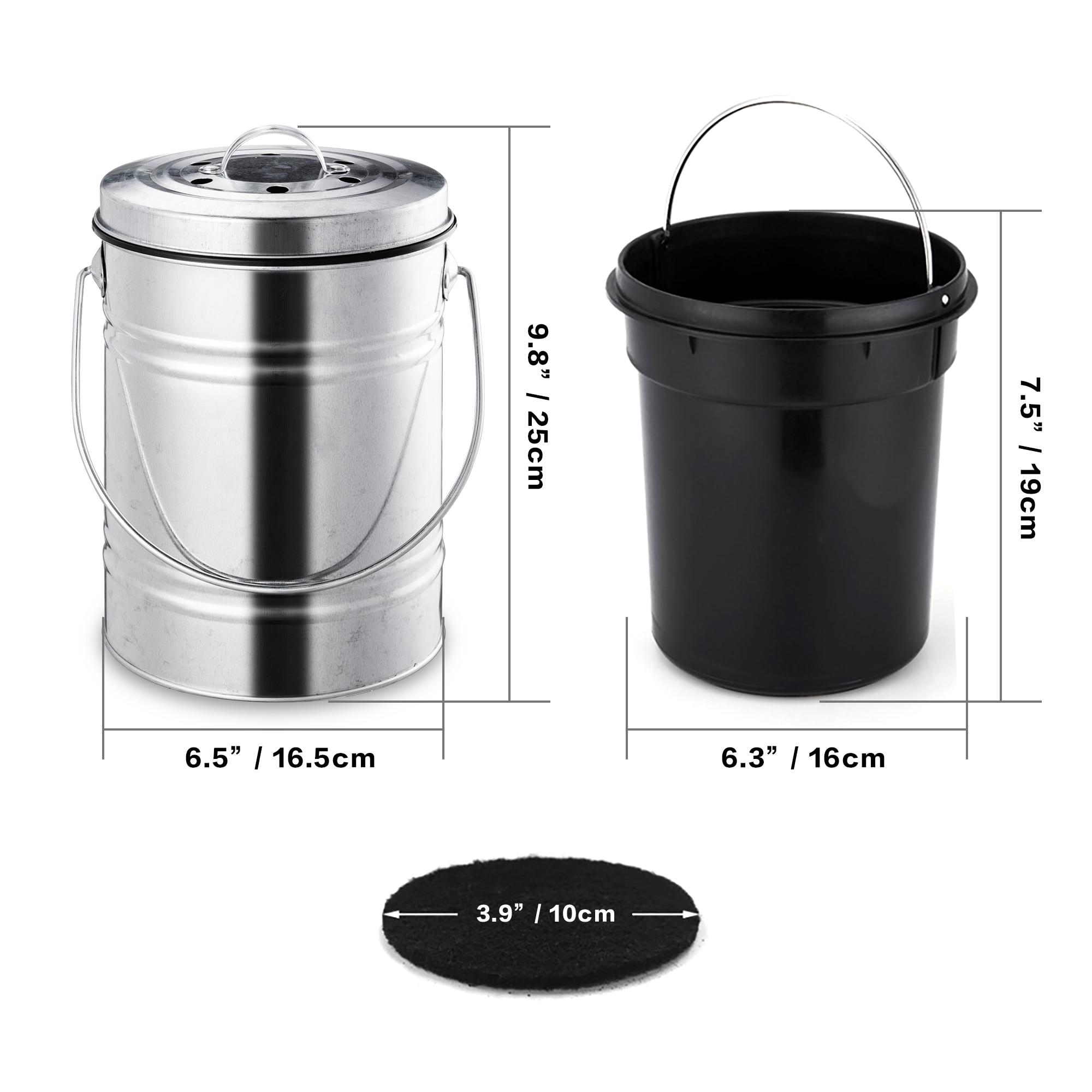 Outdoor Compost Bucket Indoor Odorless Countertop Compos 3L Kitchen Compost Bin
