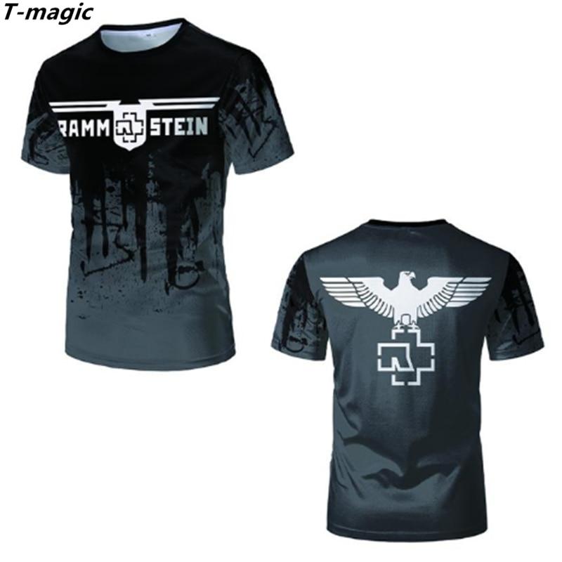 €9.66 20% СКИДКА|Мужская футболка с металлическим браслетом T magic, брендовая футболка с готическим рисунком, X 03, 2019|Футболки| |  - AliExpress