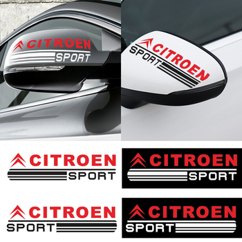 цена на 2 pcs car styling car rearview mirror decorative stickers For Citroen C1 C2 C3 C4 C5 C6 C8 C4L DS3 DS5 Car Accessories