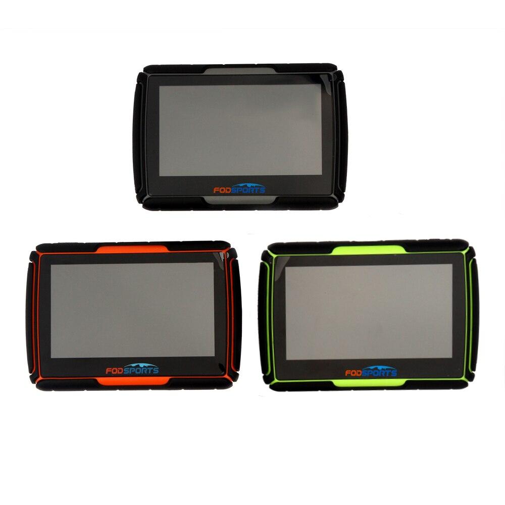 Fodsports 4,3 Zoll Motorrad Navigation Bluetooth Motorrad GPS Navigator IPX7 Wasserdichte 256MB RAM 8GB Flash Kostenloser Installieren Karten