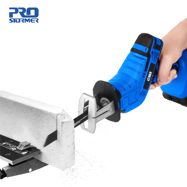 Reciprocating Saw 21V Cordless Wood Metal PVC Pipe Cutting DIY Chain Saw Power Tool by PROSTORMER 2