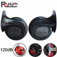 Universal One Pair All 12V 120dB Car Air Horn Loud Car Dual-tone Snail Electric Siren on Car Air Horn Loud signal Auto Styling