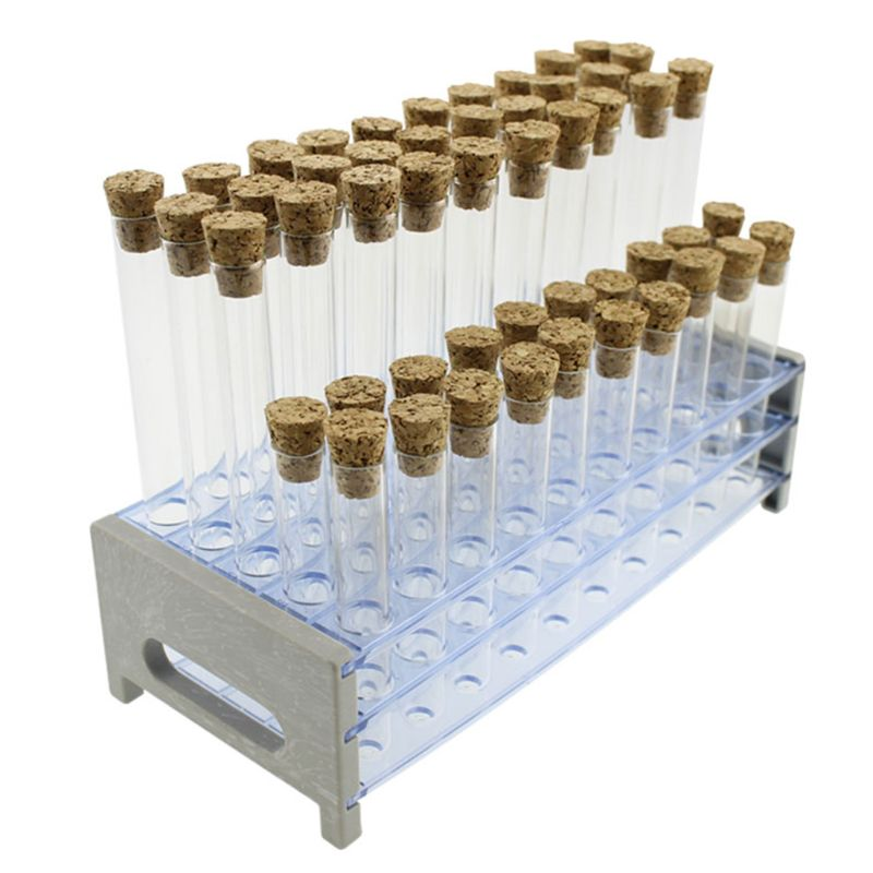 Plastic Test Tube With Cork Stopper Bead Storage Vial Containers