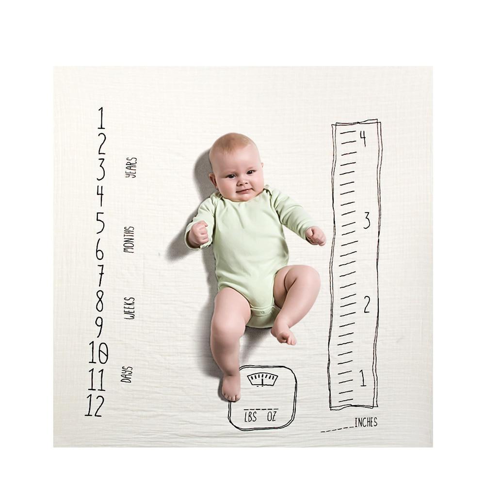 19 стильных детских ежемесячных одеял для девочек и мальчиков с цветочными крыльями, рамка для новорожденных, фон для фотосессии, фланелевый Рождественский олень - Цвет: Type 10