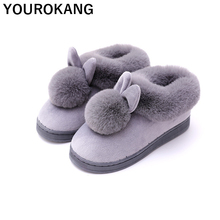 Winter Warm Women Home Slippers Indoor Female Flats Cartoon Slippers Soft Plush Cotton Flip Flops Hot Sale Couple Bedroom Shoes couple slippers fur slides for men women indoor slippers female winter plush insole rubber sole comfort cotton shoes flip flops