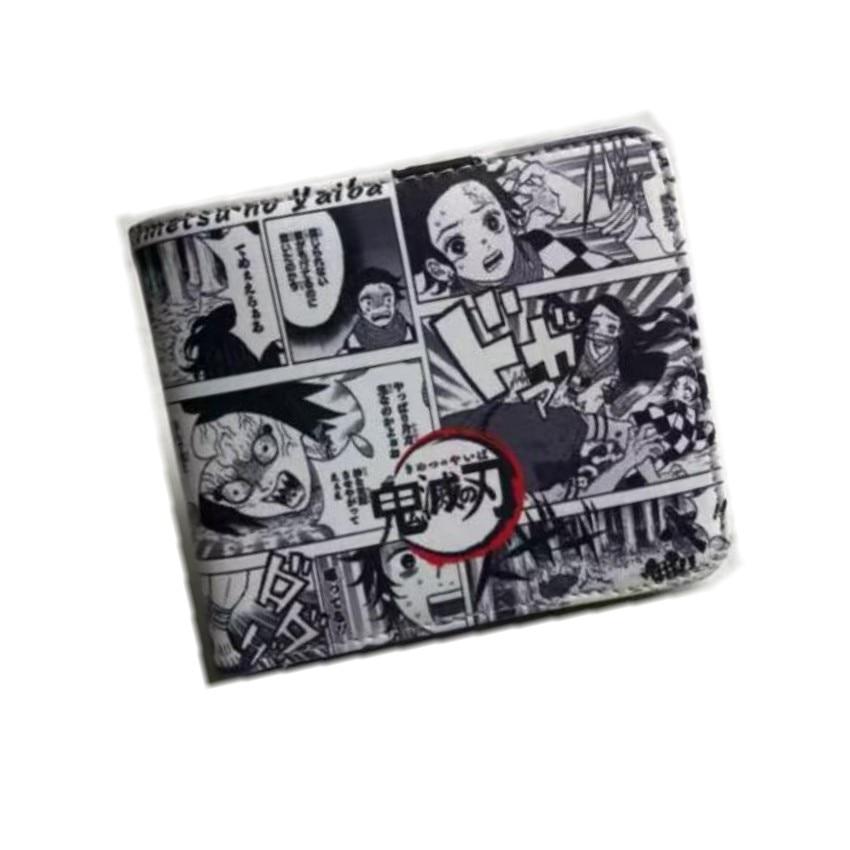 Anime Demon Slayer: Kimetsu No Yaiba Synthetic Cartoon Wallet Kamado Tanjirou Nezuko Short Wallet With Coin Purse