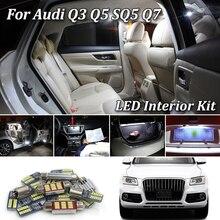 Белый Canbus безошибочный светодиодный светильник для салона, купольная карта, комплект для Audi Q3 Q5 SQ5 Q7 светодиодный светильник для салона s