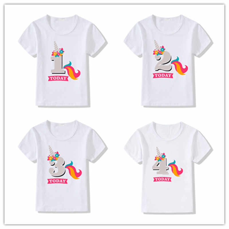 Kids Baby Boys Girls Birthday T Shirt Summer Kids Funny Gift T-shirt Size 1 2 3 4 5 6 7 Years Tops Tees Tshirt Children Clothing