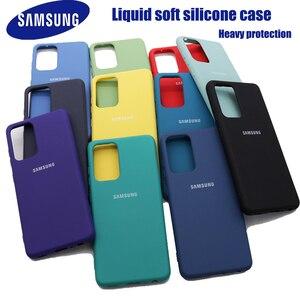 Image 1 - Original Liquid Silicone Case For Samsung Galaxy A02S A20E A01 A11 A21S A31 A51 A41 A71 A12 A32 A52 A42 A72 M51 M31 Soft Cover