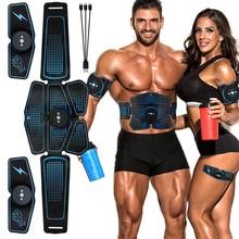 Estimulador muscular Abdominal, entrenador EMS Abs, equipo de entrenamiento, equipo de entrenamiento, músculos, electroestimulador, ejercicio de tóner, gimnasio en casa
