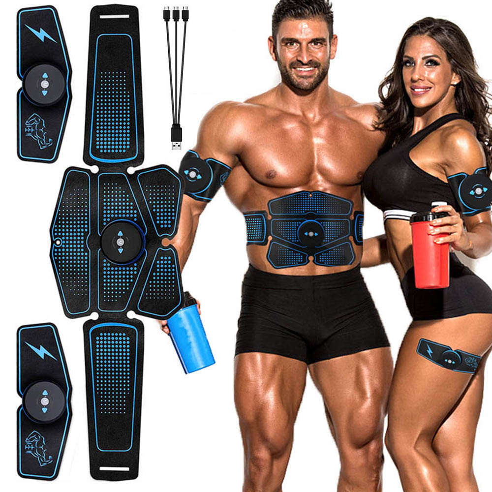 Abdominal Muscle Stimulator Trainer EMS Abs Fitness Equipment Training Gear Muscles Electrostimulator Toner Exercise At Home Gym title=