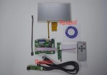 7 дюймов 1024*600 ЖК-панель Цифровой ЖК-экран + сенсорный экран и плата привода (HDMI + VGA + 2AV) для Raspberry PI Pcduino Cubieboard