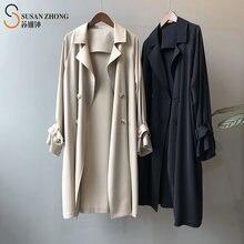 Женское длинное пальто женская верхняя одежда Женский Тренч