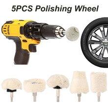 Полировочный диск для автомобиля 5 шт. Полировочный диск для полировщика и электрической отвертки для полировки колес инструменты для ухода за краской Аксессуары#30