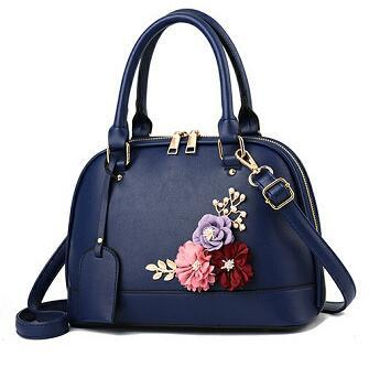 Baggage Girl 2019 New Summer Pu Flower Shell Bag Grade Synthetic Leather Cross Body Bag
