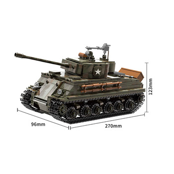 Military series World War II US Army military tank Model Building blocks DIY Soldier Action Figures Toys Gifts 2