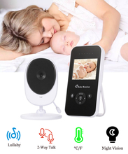 2.4Inch Wireless Digital Video Baby Monitor HD Resolution Color LCD Sleeping Night Vision Temperature Sensor Camera